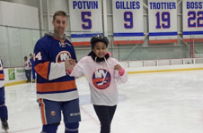 Middle Schoolers with NY Islanders
